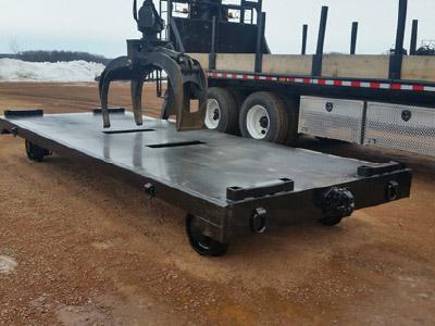 Rail Cart - 18' Solid Floor