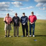 Branch Manager- Parts, Dennis Wolfe (second from left), enjoying being out on the course.