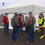 Corby Hammond, Rental Sales Rep (far right), ran the equipment rodeo.