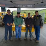 Antique Tractor Club members set up a tent at the event.