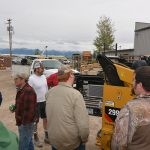 Many of the customers took time to take a closer look the machines on display at the event.