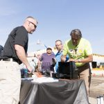 Visitors found a variety of contests and promotions at Spokane's customer appreciation BBQ.