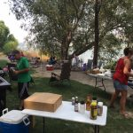 The Twin Falls team enjoys a Saturday by the river.