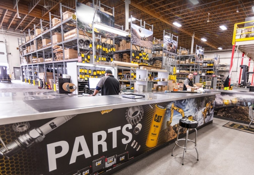meridian cat heavy equipment parts warehouse