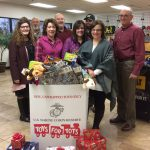 Meridian employees put together several fundraisers to donate to Toys for Tots.