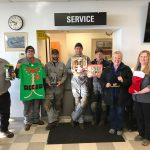 "The Pendleton team ""adopted"" a local homeless high school student and supplied him with a number of Christmas goodies."