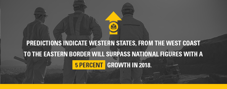 western states will surpass national figures with 5% growth in 2018