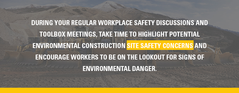 make time in meetings for site safety