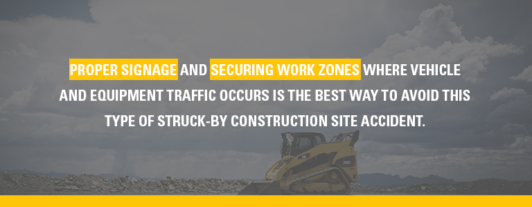proper signage and securing work zones in construction